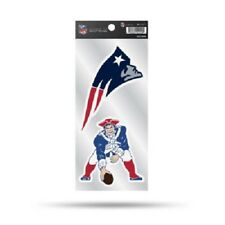 New England Patriots RETRO Double Up Sticker Sheet Die Cut Decal Color 2 Logos