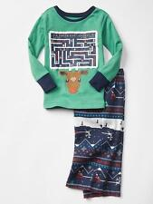 BABY GAP BOYS REINDEER GAMES TWO-PIECE PAJAMA SLEEP SET ORG. $34.95 SIZE 3 BNWT
