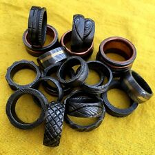 Beautiful custom hand made damascus steel rings lot of 20  (Mughal 114)