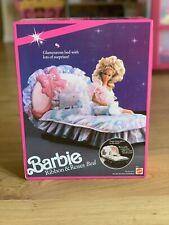 BARBIE RIBBONS AND ROSES BED VINTAGE TOY NIB 1990  PINK SPARKLES MATTEL