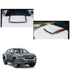 Bonnet Hood Scoop Cover White Red Trim 1 Pc For Chevrolet Holden Colorado 2017 +