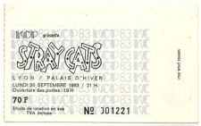 RARE / TICKET BILLET DE CONCERT - STRAY CATS : LIVE A LYON ( FRANCE ) 1983