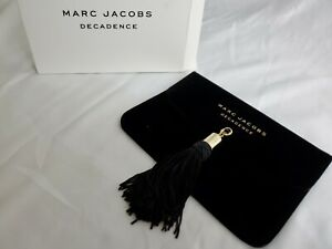 New Marc Jacobs Decadence Evening Bag Clutch Pouch Tassel Velveteen Black NIB