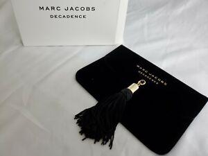 New Marc Jacobs Decadence Evening Bag Clutch Pouch Tassel Velveteen Black NIB