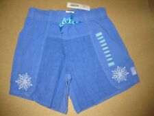 NEW NWT Naartjie 2014 Textured Cinch waist Shorts Lierie Blue Size 7