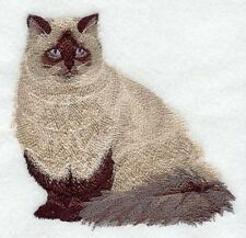 Embroidered Sweatshirt - Himalayan Cat C7910 Sizes S - XXL