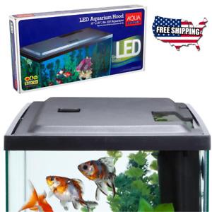 10 Gal Fish Tank Hood w LED Light, Provide Healthier Environment 4 Tropical Fish