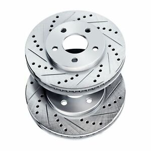 Brake Rotors [2 Front] POWERSPORT *DRILLED & SLOTTED* DISC BJ01408