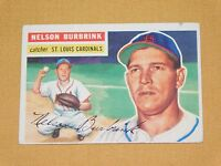 VINTAGE OLD 1950S BASEBALL 1956 TOPPS CARD NELSON BURBRINK ST LOUIS CARDINALS