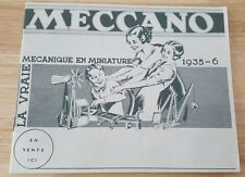 RARE 1935-36  DINKY TOYS HORNBY MECCANO FRENCH CATALOG