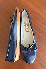 "Ferragamo Black ""ETOILE"" Ballet Flats with Opanka Soles sz 7.5"