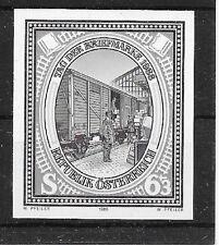 ÖSTERREICH/ Eisenbahn-Tag der Briefmarke 1988 MiNr 1942 ** Schwarzdruck