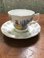 Vintage Miloware Crinoline Lady Tea Cup & Saucer Duo High Tea Made in England