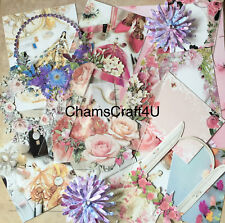 Craft clearout mix, card toppers / paper die cuts, bundle joblot vintage lady