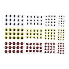 183pcs 3D Holographic Fishing Lure Eyes pour Fly Tying Jigs Craft 3/4/5 /