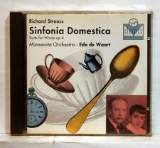 EDO DE WAART - STRAUSS sinfonia domestica, suite for wind VIRGIN CD NM