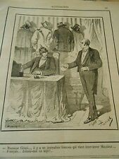 Typo 1890 Mr Crispi Interviewer Donner moi un Képi