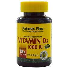Nature's plus Vitamin D3 25ug (1000 IU) 180 Softgels
