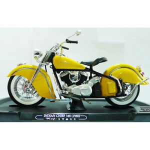 Guiloy #17611 1/10 Indian Chief 384 (1948) / Yellow Diecast Model