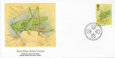 New listing Great Britain Stamps. Wart Biter Bush Cricket. First Day Cover.