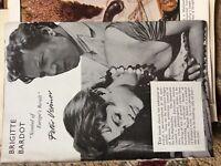 b1r ephemera 1956 picture article brigitte bardot by peter ustinov