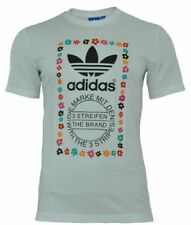 adidas Crew Neck Cotton Blend Slim Fit T-Shirts for Men