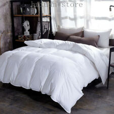 Fluffy Comfort 100% Goose Down Duvet Comforter Winter Thick Blanket Solid Color