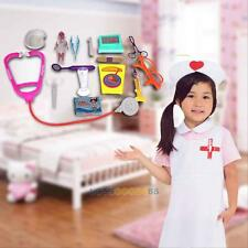 15Pcs Baby Kids Doctor Medical Play Sets Carry Case Kit Education Role Play Toys
