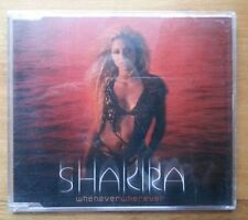 "SHAKIRA - ""Whenever Wherever"" CD 2001 V 2000s pop single"