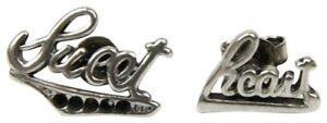 SAINT LAURENT PARIS silver SWEET HEART earrings .925 onyx £600 YSL earings HEDI