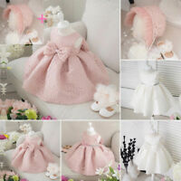 Flower Dress Princess Occasion Baby Girls Kids Party Wedding Toddler Bridesmaid