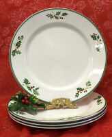 Christopher Radko Traditions HOLIDAY CELEBRATIONS 4 Dinner Plates