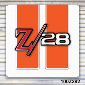 Z28 Camaro Banner Sign Garage