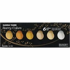 "ZIG Kuretake Gansai Tambi ""Starry Colors"" 6 colours set"
