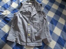 Girls Best Basics Blouse/Shirt Blue/White Check Size 134-140cms
