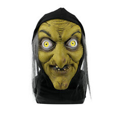 The Witch Mask Ghoul Scary Halloween Latex Fancy Dress Demon Evil Witches Mask
