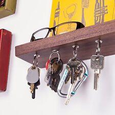 "10"" Floating shelf and magnetic key rack in solid Black Walnut wood"
