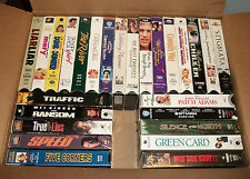 FREE SHIP 26Pc Lot #1 Various VHS Movies Ransom, Traffic, Speed, True Lies +++++