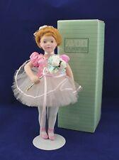Vintage Avon Porcelain Collector Doll Ballet Recital 1991 w/Stand