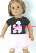 Chiffon Poodle Dress 18 in Doll Clothes Fits American Girl