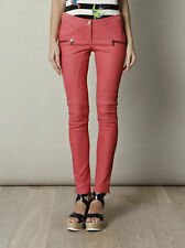 DROME CORAL LEATHER PANTS TROUSERS JEANS SMALL