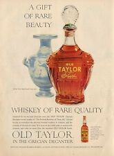 1953 Old Taylor Whiskey Vintage Dcantor Bottle & 4th cent Grecian Vase PRINT AD