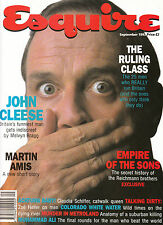 ESQUIRE UK September 1992 JOHN CLEESE Claudia Schiffer JEAN NOUVEL Muhammad Ali