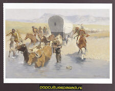 FREDERIC REMINGTON The Emigrants (1903) ART ARTWORK PAINTING POSTCARD