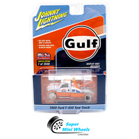 Johnny Lightning White lightning 1999 Ford F-450 Gulf Livery Tow Truck CHASE !