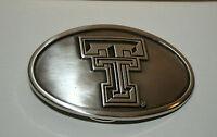 Vtg Texas Tech Red Raiders University Football Team Belt Buckle New NOS