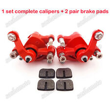Left + Right Disc Brake Calipers Mini Dirt Pocket Bike ATV Goped Scooter Go Kart