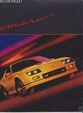 CHEVROLET CAMARO brochure (Sport Coupé Berlinetta Z28 IICO Z28) - 1985