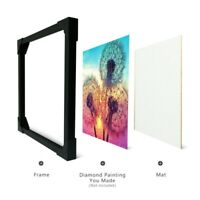 DIY New Solid Black Poster Hanger Frame for Diamond Painting Canvas DIY Crafts