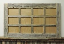 NEW RUSTIC FARMHOUSE BARNWOOD RECLAIMED MULTI 12 PICTURE 4X6 FRAME COLLAGE DECOR